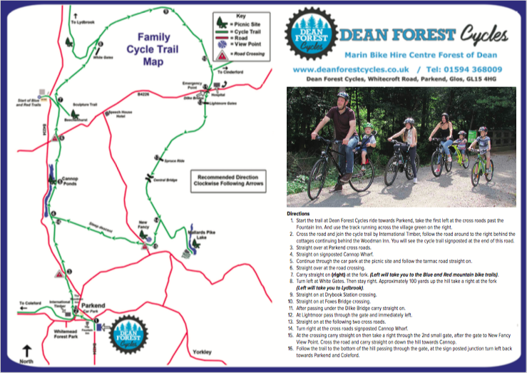 Family Cycle Trail Map