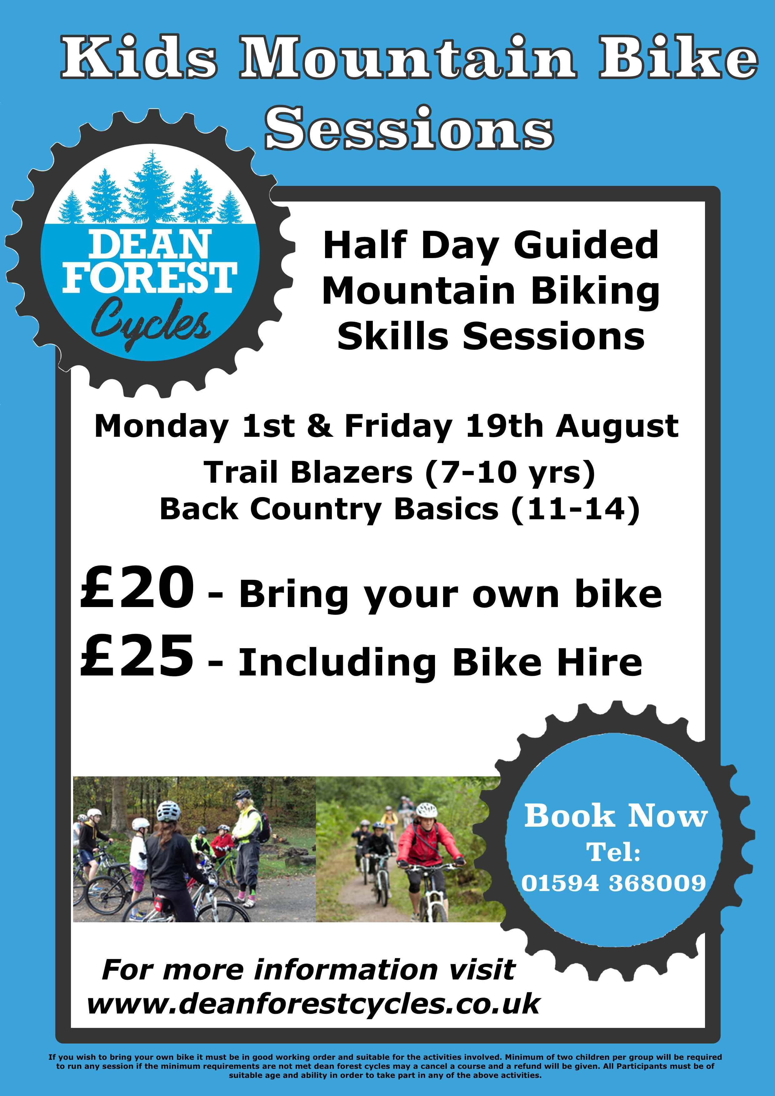 kids summer mountain bike sessions